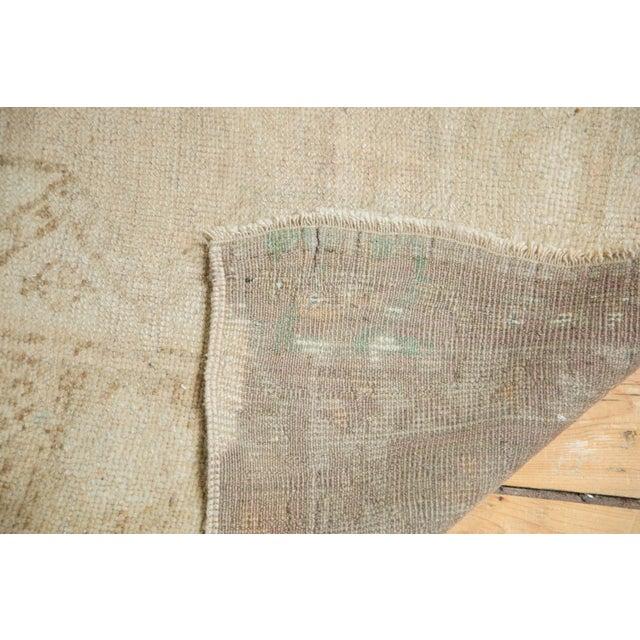 "Vintage Distressed Oushak Rug Runner - 3'7"" x 8'3"" - Image 8 of 10"