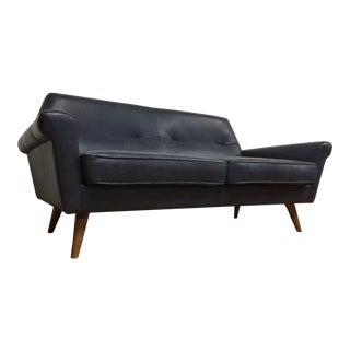 "West Elm ""Denmark"" Leather Loveseat Sofa"