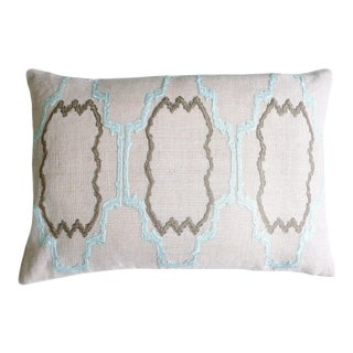 "Piper Collection Blue Flower ""Lilly"" Pillow"
