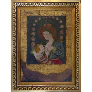 """Mother of God Breastfeeding Christ"" Russian Icon"