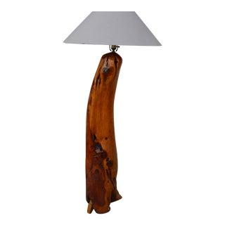 Artistic Cedar Log Floor Lamp