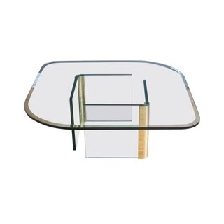 Leon Rosen for Pace Brass & Glass Coffee Table