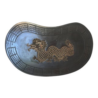 Asian Serpent Rosewood Cribbage Board