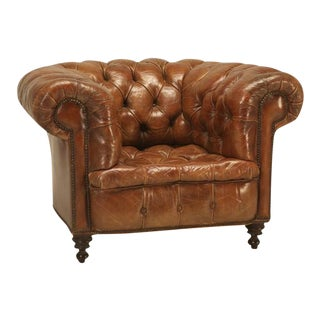 Original Leather Antique Chesterfield Chair
