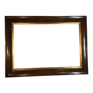 Wood & Gold Leaf Trim Frame