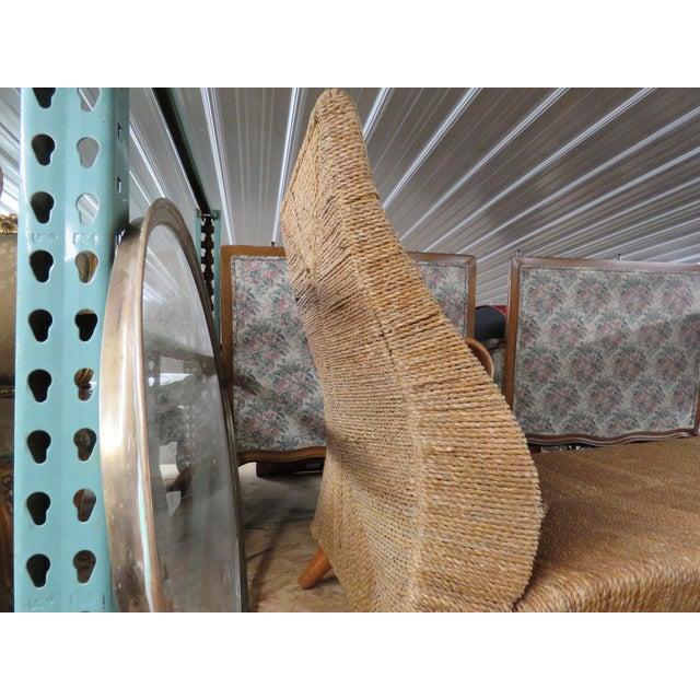 Italian Modern Teak & Rattan Chaise Lounge | Chairish