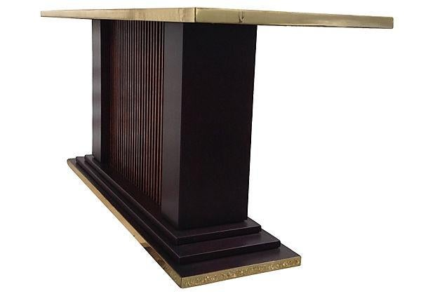 Mitchell Gold Console Table Trouvailles Art Deco Step Tiered Console | Chairish