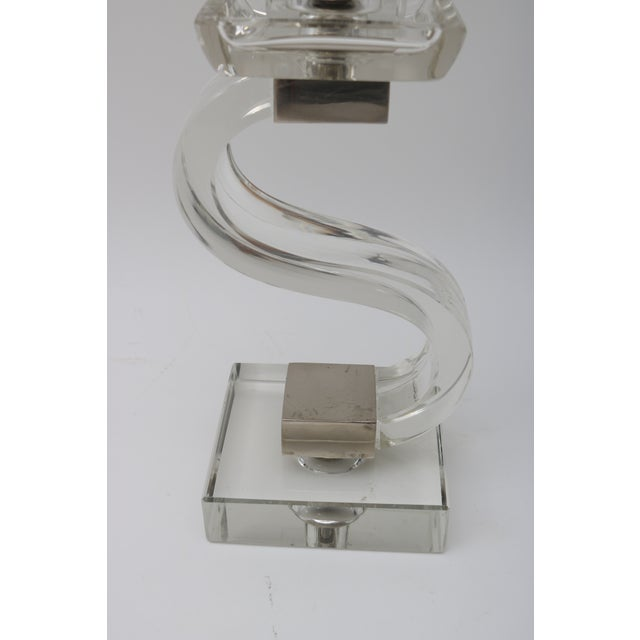 Polished Chrome Trim Candle Holders - A Pair - Image 4 of 9