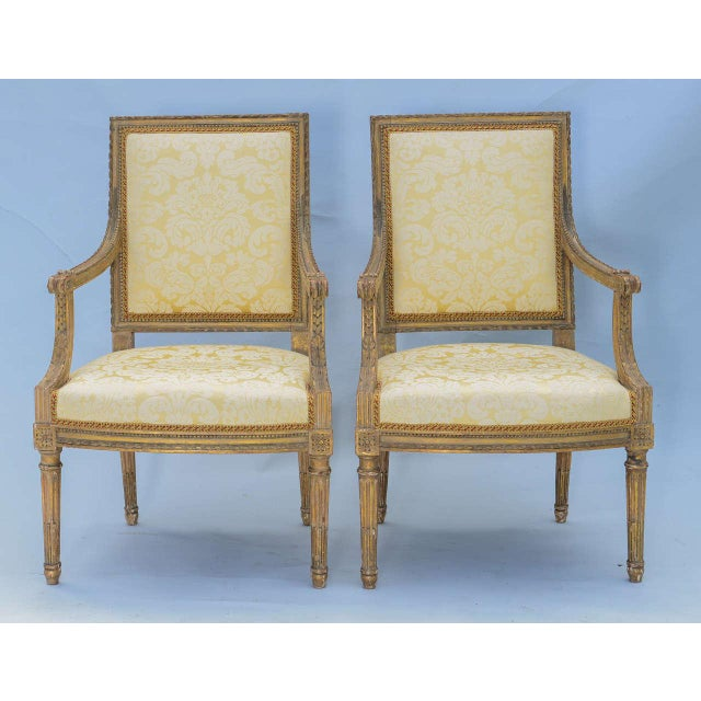 Pair of Early 19th Century Louis XVI Fauteuils - Image 2 of 10