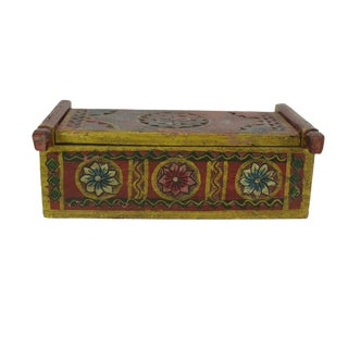 Folk Flower Painted Storage Box