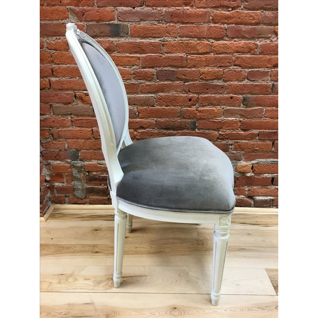 Swedish Gustavian Style Side Chair - Image 5 of 9