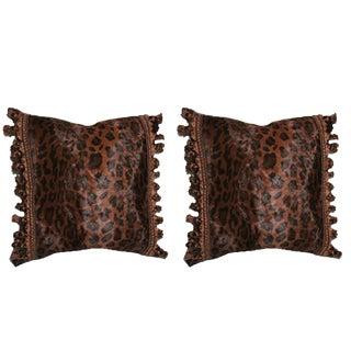 Lush Cheetah Down Pillows - a Pair