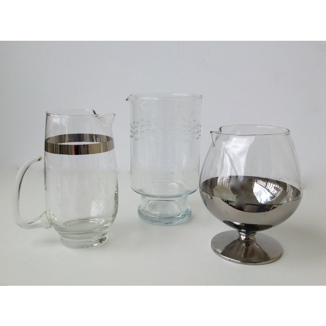 Assorted Glass & Silver Cocktail Mixers - Set of 3 - Image 2 of 10