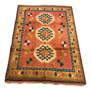 Vintage Kars Turkish Semi-Antique Rug - 4' X 5'10''