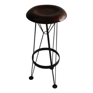 Hammered Steel Bar Stool