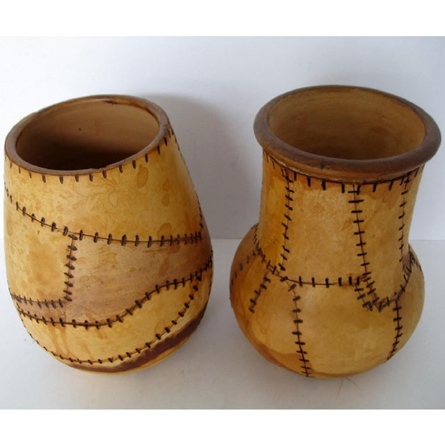 Brazilian Artisan Vases - A Pair - Image 5 of 6