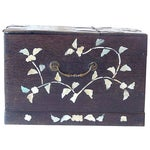 Image of Antique Mother of Pearl Inlay Jewelry Box