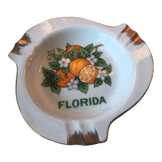 Mid-Century Florida Oranges Ashtray