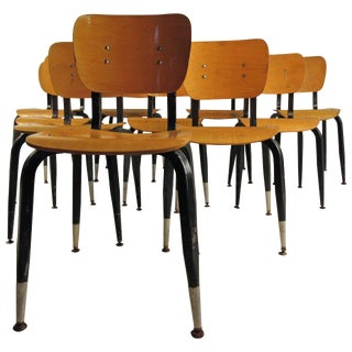 Eames Era Bentwood Student Chairs - Set of 10