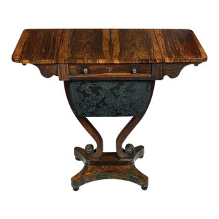 English Regency Rosewood Worktable