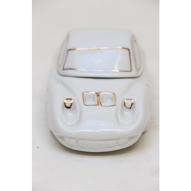 White Porcelain Car-Shaped Stash Box - Image 6 of 6