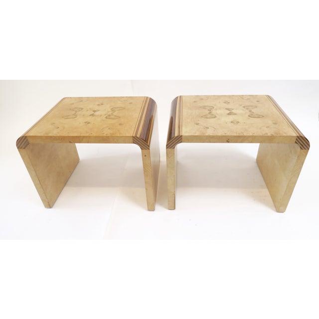 Henredon Vintage Burlwood Side Tables - A Pair - Image 2 of 8