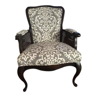 Vintage French Provincial Style Cane Armchair