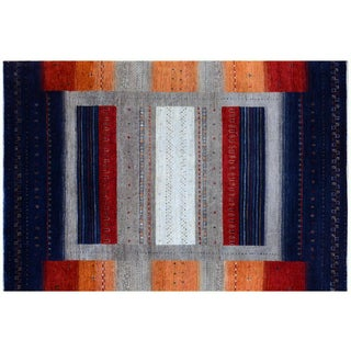 Sunset Colors Inspired Gabbeh Rug - 6′1″ × 9′1″