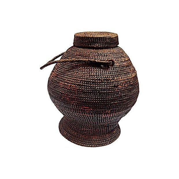 Basket Weaving Of Ifugao : Antique ifugao ulbong basket chairish