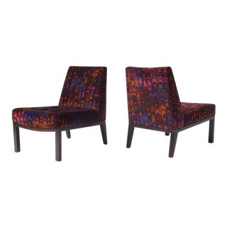 "Edward wormley pair of ""Sophia"" slipper chairs"