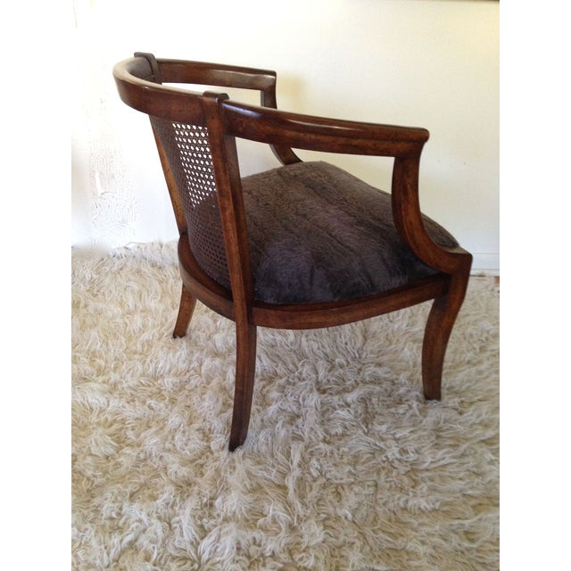 Vintage Cane Back & Faux Fur Seat Chairs - A Pair - Image 5 of 7