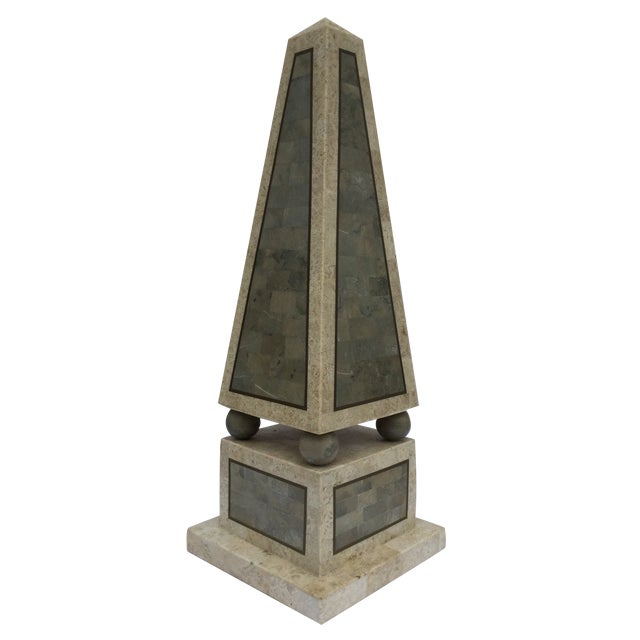Image of Maitland Smith Tessellated Stone Obelisk