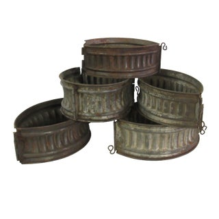Antique French Meat & Game Pie Molds - Set of 5