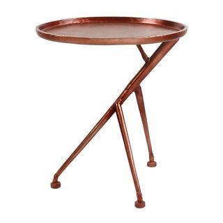 Copper Asymmetrical Side Table
