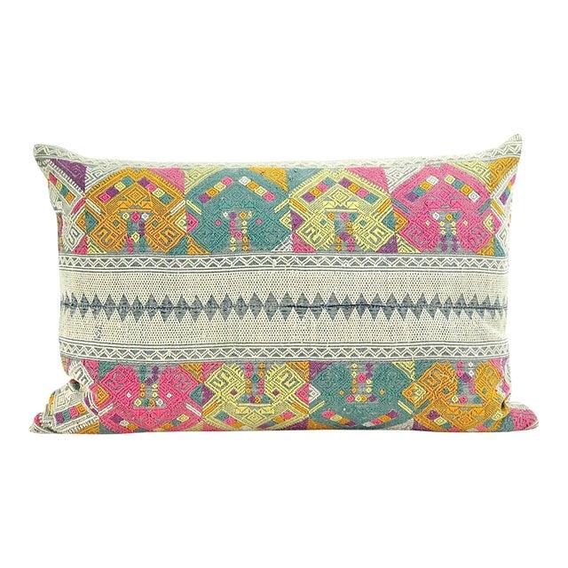 Vintage Lao Textile Custom Pillow - Image 1 of 4