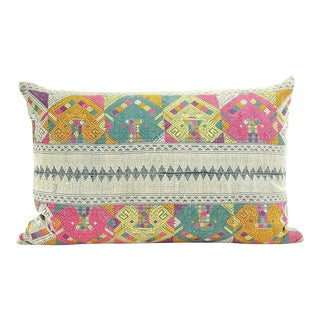 Vintage Lao Textile Custom Pillow