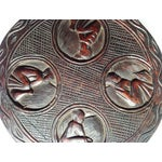 Image of African Carved Wood Medallion