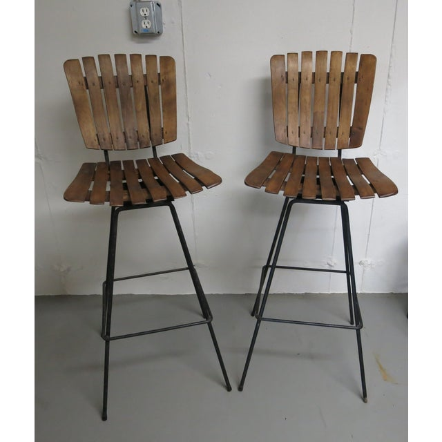 Arthur Umanoff Bar Stools - a Pair - Image 6 of 6