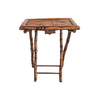 Bamboo Folding Accent Tray Table