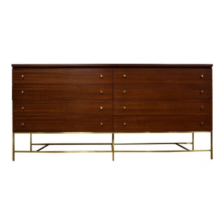 Paul McCobb for Directional Calvin Mahogany and Brass Dresser