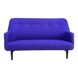 Mid Century Modern Blue Purple Sofa