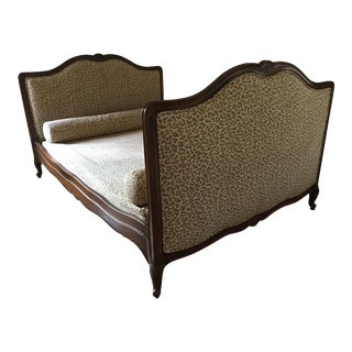 Superb Antique French Provincial Bed - Scalamandre Cheetah