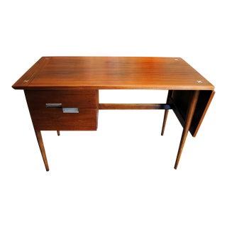 Mid Century American of Martinsville Walnut Drop Leaf Desk