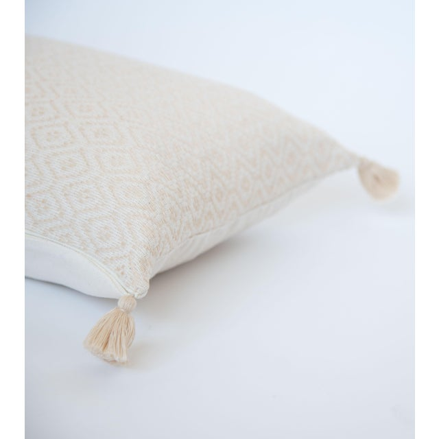 Vanilla & White Handwoven Mexican Pillow - Image 3 of 3