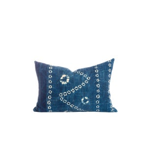 Vintage Indigo Resist Dye Pillow