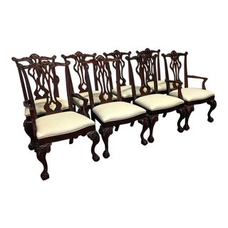 Thomasville Mahogany Collection Chippendale Dining Chairs - Set of 8