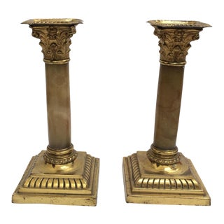 19th Century Candle Holders - A Pair