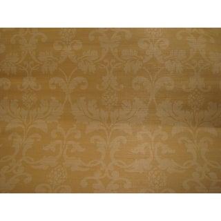 Schumacher Grasscloth Beige Wallpaper