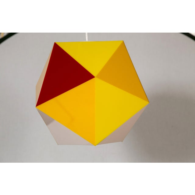 Geodesic Yellow & Orange Acrylic Pendant Light - Image 4 of 6