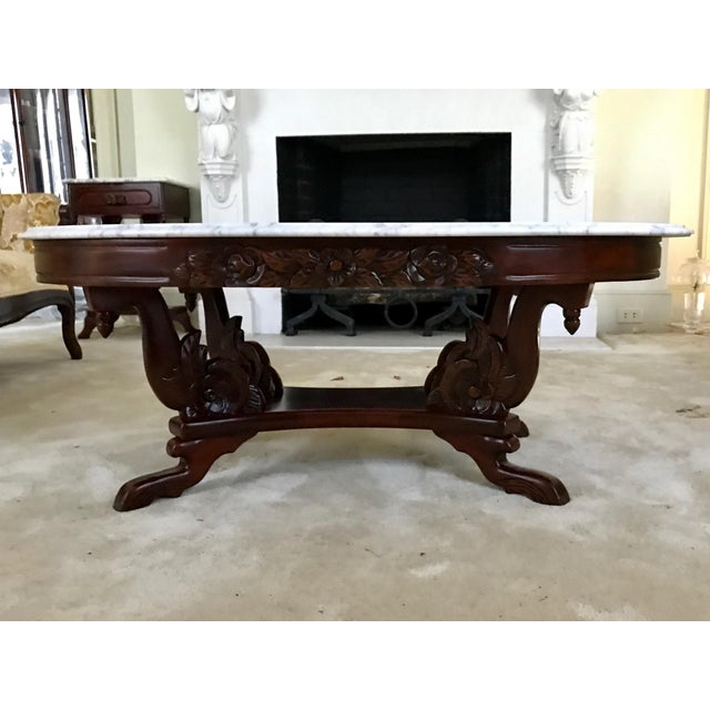 1940s Kimball Solid Mahogany Victorian Style Coffee Table Chairish